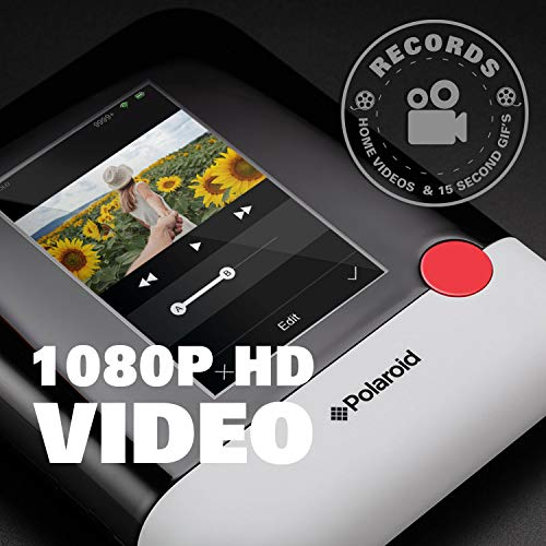 Polaroid WiFi Wireless 3x4 Portable Mobile Photo Printer (Blue) with LCD Touch Screen, Compatible w/ iOS & Android