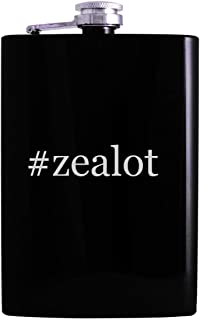#zealot - 8oz Hashtag Hip Alcohol Drinking Flask, Black