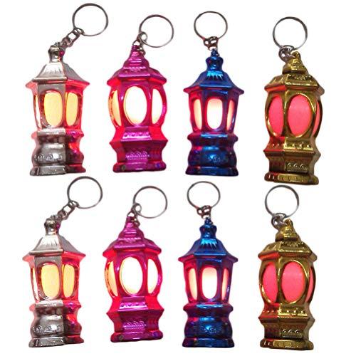 SOLUSTRE 20Pcs Mini Ramadan Laterne Laterne LED Schlüsselanhänger Licht Tragbare Schlüsselring Lampe Geschenk für Handtasche Oder Tisch (Zufällige Farbe)