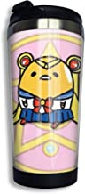 Others Gudetama Cosplay Unisex Adults Kids Stainless Steel Coffee Cup Insulated Travel Mug Tumbler 400ML for Family Friend Lover Birthday Christmas New Year Gifts