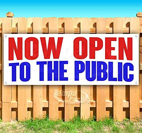 Now Open to ついに入荷 The Public 13 Vi oz Non-Fabric Heavy-Duty 未使用 Banner