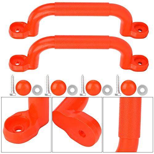 Alomejor Spiel Haltegriffe Kinder Haltegriffe Massive Sicherheitsgriffe Spielplatzgriffe für Klettergerüste Tree House Dens Play House(rot)