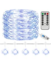 SUNNEST Led-lichtsnoer, lichtgordijn, 300 leds, USB-gordijnverlichting, lichtsnoer, licht met afstandsbediening, timer voor decoratie, binnenverlichting