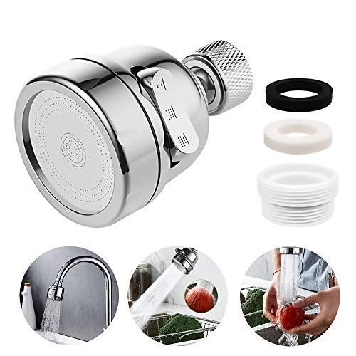 Aireador de agua, Grifo Giratorio, filtro de rociado de grifo de 3 modos para la cocina
