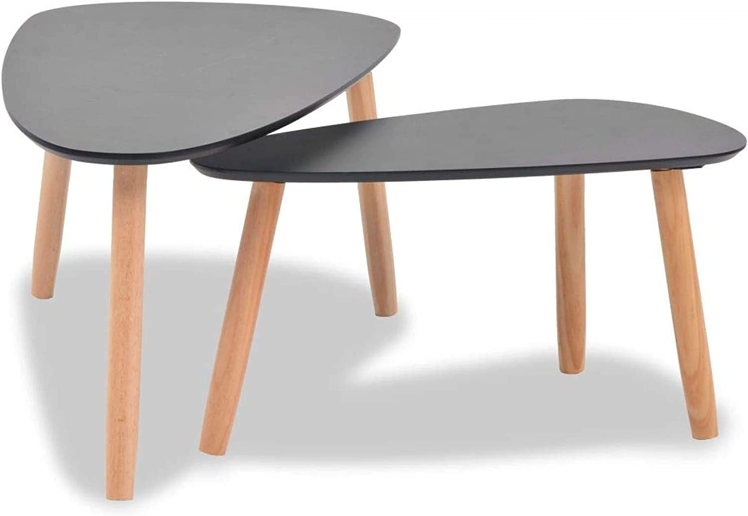 2 Pieces Coffee Large discharge sale SALENEW very popular! Table Set Solid Pinewood Stackable fo Side