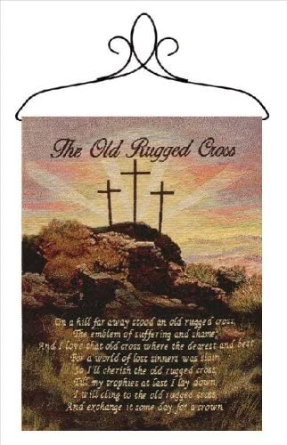 Manual Inspirational Collection Wall Hanging with Frame Old Rugged Cross 13 X 18 Inch product image