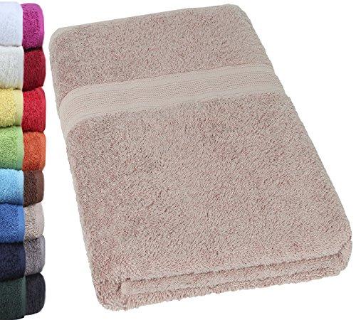 Unbekannt NatureMark® SAUNATÜCHER Premium Qualität 80x200cm SAUNATUCH Sauna-Handtuch 100% Baumwolle Farbe: Sand/Beige