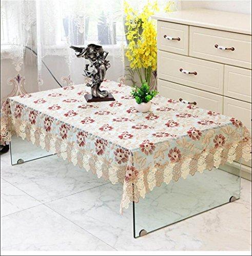 TABLECLOTH kant thee tafel rond tafelkleed, restaurant banket rechthoekig tafelkleed TV koelkast bloemenstandaard plaats doek (kleur: F, grootte : 58 * 150cm)