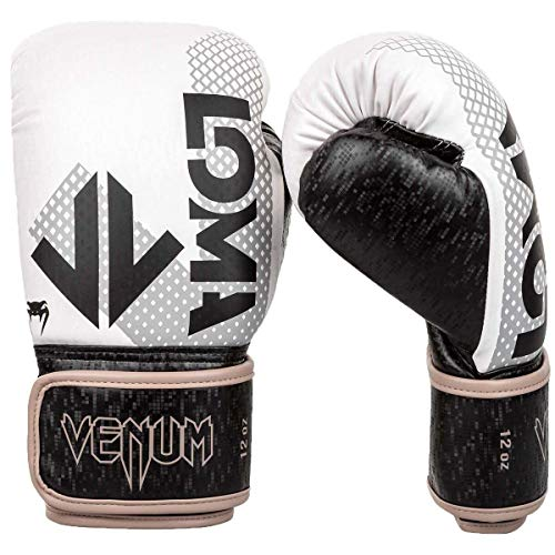 VENUM Arrow LOMA Edition, Guantoni da Boxe Unisex-Adult, Nero/Bianco, 16 oz