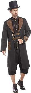 NET TOYS Extravagante Disfraz Steampunk para Hombre - Marrón-Negro XL (ES 54) - Vestimenta Hombre Clockwork Abrigo con Camisa y Sombrero - El Centro de Las miradas para Fiesta temática