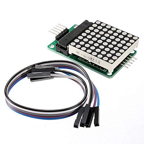JISHIYU-Q MAX7219 Dot Matrix MCU LED Display Control Module Kit With Dupont Cable for Arduino