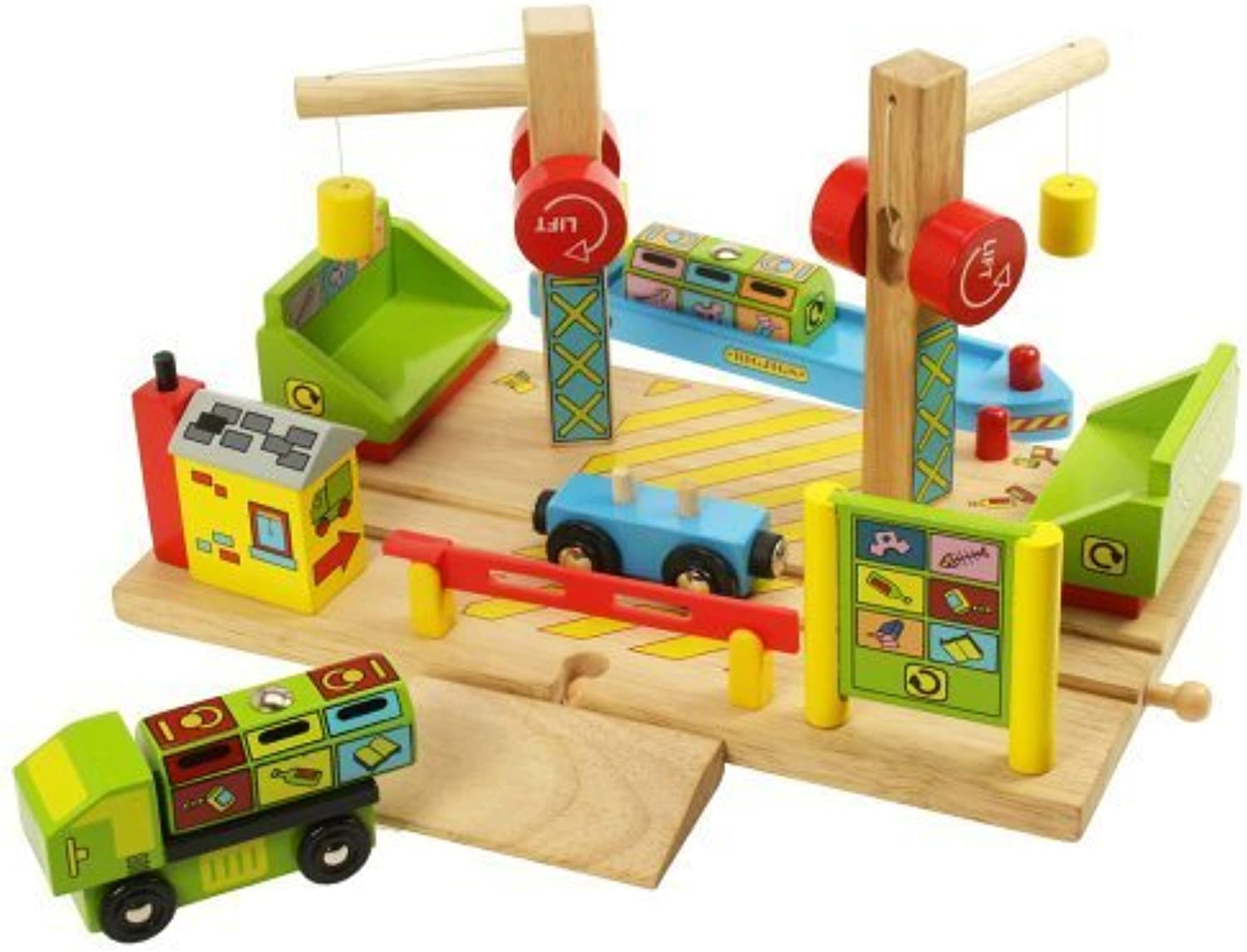Bigjigs Rail BJT211 Dockside Recycling Centre by Bigjigs Toys