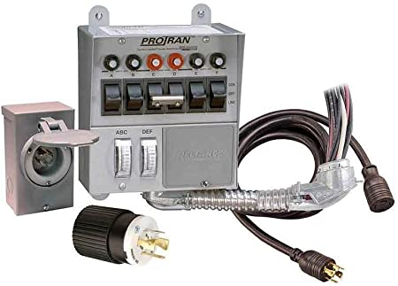Amazon.com: Reliance Controls Corporation 31406CRK 30 Amp 6-circuit  Pro/Tran Transfer Switch Kit for Generators (7500 Watts).,Gray: Garden &  Outdoor | 6 Circuit Transfer Switch Wiring Diagram |  | Amazon.com