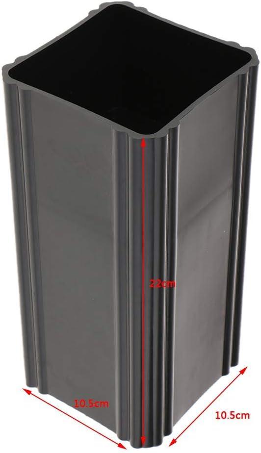 Long tube carr/é Tenlacum Ikebana Subana Vase en plastique pour bonsa/ï Diff/érentes formes Noir