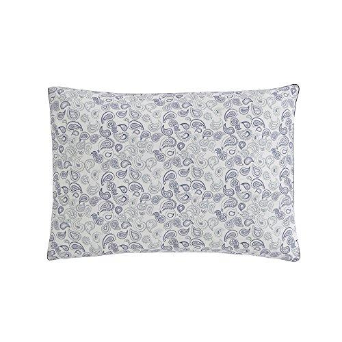 Essix Cadence Taie d'oreiller Coton/Percale de coton Perle 70 x 50 cm