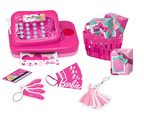 Barbie - Caja registradora Fashion (Lexibook RPB554