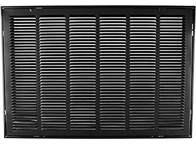 """30"""" X 20 Steel Return Air Filter Grille for 1"""" Filter - Removable Face/Door - HVAC Duct Cover - Flat Stamped Face - [Outer Dimensions: 32.5 X 21.75]"""