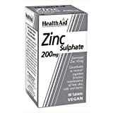 Zinc Sulphate 200mg (45mg elemental Zinc) - 90 Tablets by HealthAid