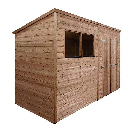 Waltons Wooden Garden Shed 10x8 Outdoor Workshop Storage, Shiplap, Pent Roof (10 x 8 / 10Ft x 8Ft)