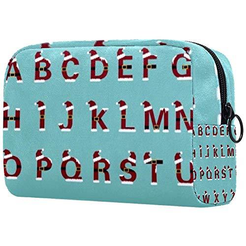 Trousse de toilette portable pour femme - 26 lettres anglaises