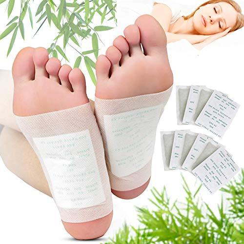 Detox Pflaster Fuß, Kapmore 100pcs Detox Fußpflaster zum Körper Entgiften Bambuspflaster mit Turmalin Fußpflaster zum Entschlacken Pflaster Entgiftung (100PCS)