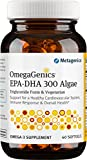 Metagenics OmegaGenics® EPA-DHA 300 Algae – Vegetarian Omega-3 Oil – Daily Supplement to Support Cardiovascular Health, 60 count