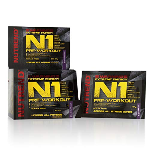 Nutrend N1 Shot 10x17ml Blackcurrant Flavour Body Stimulant than the instant form of pre-workout promote muscle pumping Beta-alanine, AAKG Taurine DMAE