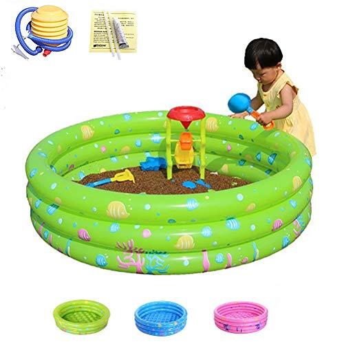 Anti-Slippery Portable Opblaasbaar Zwembad Pink PVC Dik Water Zwembad Voor Kinderen 2 Tot 4 Jaar Geschikt Voor 2-3 Personen,Green,150cm