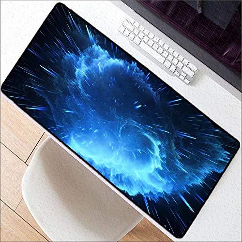 HonGHUAHUI kamer kleurt blauwe sterren spel-speler bureauslaptop rubberen muismat spel muismatten grote bureaumat, 300 x 800 x 2 mm.