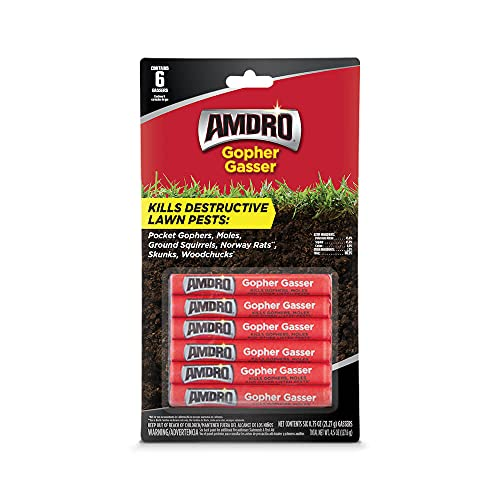 Amdro Gopher and Mole Killer, 12 Gassers, 0.75 oz = 2 - (6 Packs)