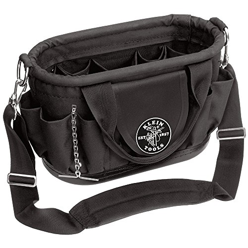 Klein Tools 58890 Tool Tote with 17 Pockets and Shoulder Strap, Black
