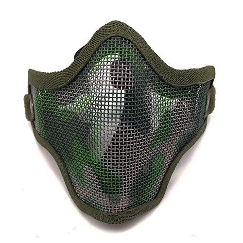Ecloud Shop® Tactical Airsoft Schablone Stahl Metal Mesh Lower Half Face Mask Tarnung