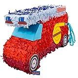Folat 60933 Pinata Feuerwehr. Tolle Piñata zum Befüllen mit Konfetti, Süßigkeiten und kleinen Geschenken