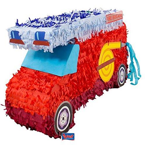 Folat 60933 Pinata Feuerwehr. Tolle Piñata zum Befüllen mit Konfetti, Süßigkeiten und kleinen...