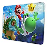 Super Mario Gaming Mouse Pad Non-Slip Rubber Stitched Edges Mousepad 11.81 X 9.84 X 0.12 inches Rectangle Mouse Mat Smooth Surface Mouse Pads