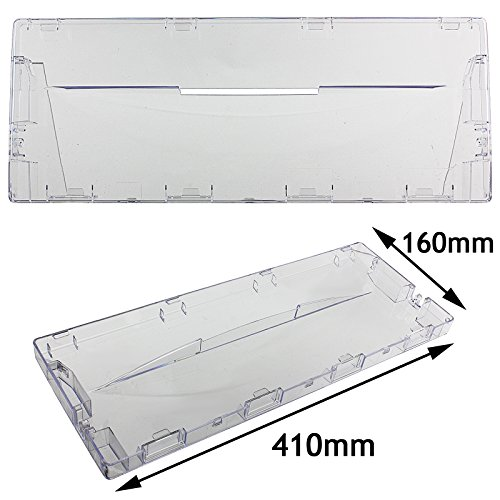 Spares2go Plastic Lade Flap Voorhandvat voor Indesit Koelkast diepvriezer