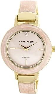 Women's Pink Mother of Pearl Dial Gold Tone Bangle Bracelet Watch AK/2444PKGB