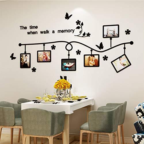 ZXCV Foto fotolijsten diy3d acryl grote kunst muursticker aftrekplaatjes sticker woonkamer verklevingen installeren familie warm zelf design lijm