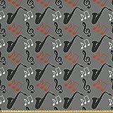ABAKUHAUS Jazz Musik Stoff als Meterware, Saxophon Key