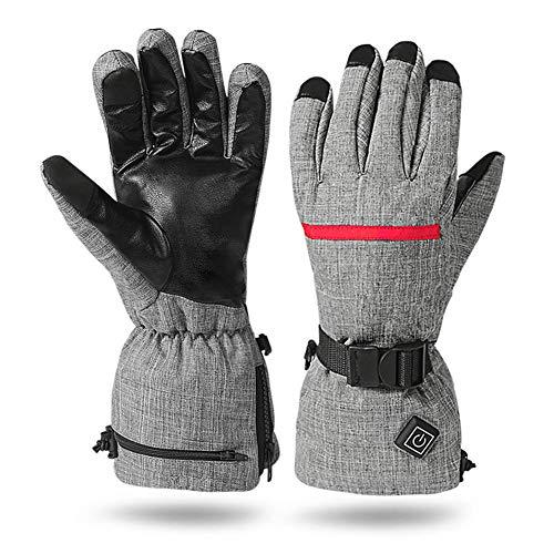 ZKHD Winter Outdoor Radfahren Ski-Handschuhe wasserdicht Winddicht Warmhalte Fever Elektroheizung Handschuhe