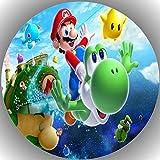 Fondant Tortenaufleger Tortenbild Geburtstag Super Mario AMA6