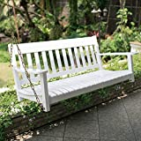 Best Swings For Porch - Cambridge-Casual Solid Wood Bentley, Porch Swing, White Review
