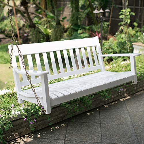 Cambridge-Casual Solid Wood Bentley, Porch Swing, White
