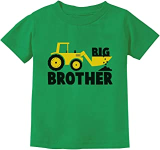 Big Brother Gift for Tractor Loving Boys Toddler/Infant Kids T-Shirt + Stickers