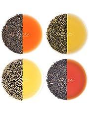 VAHDAM, Muestrario de Té Earl Grey (5 TÉS) Té Negro, Té Verde, Oolong, Té Blanco, Chai mezclado con Aceite Natural de Bergamota | Pack de Tés de Hoja Suelta Variados para el Día de la Madre