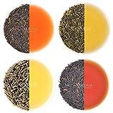 VAHDAM, Muestra de Té Earl Grey (5 TEAS, 50 tazas) Té negro, té verde, té Oolong, té blanco, té Chai mezclado con aceite de bergamota natural | Paquete de Variedad de Té | Té de bergamota