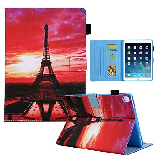 Funda para tablet Samsung Galaxy Tab A 8.0 2019 SM-T290/T295/T297, funda de piel sintética con tapa, función atril, tarjetero, cierre magnético, tapa de torre de hierro