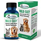 WALK-EASY Hip and Joint Supplement for Dogs and Cats - Powerful Anti-inflammatory Support and Proven Arthritis Pain Relief Pills - All Natural, No Bad Stuff, Easy To Give Your Pet (1 Pack)