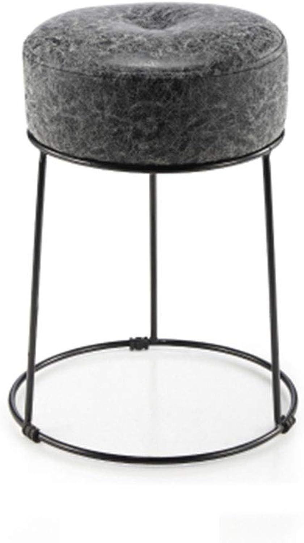Bar Chair Beauty Stool Bar Stool Iron Art Stool Barber Chair Creative Nail Stool Household 10 colors 1 Size (color   C)