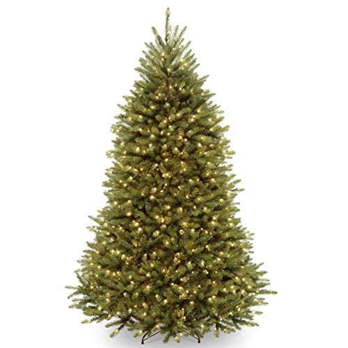 National Tree Company 7.5ft Dunhill Fir Hinged Full LED Artificial Tree with 700 Low Voltage Dual Led Lights with 9 Function Footswitch